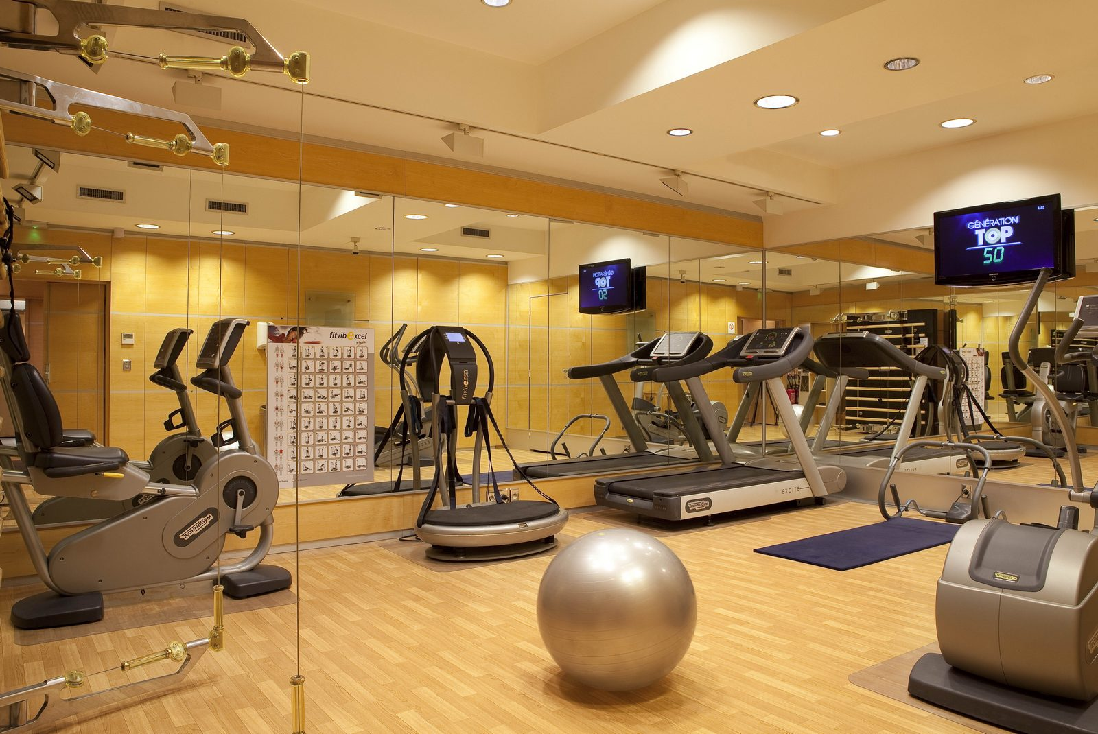 salle de sport h tel au manoir st germain des pr s. Black Bedroom Furniture Sets. Home Design Ideas